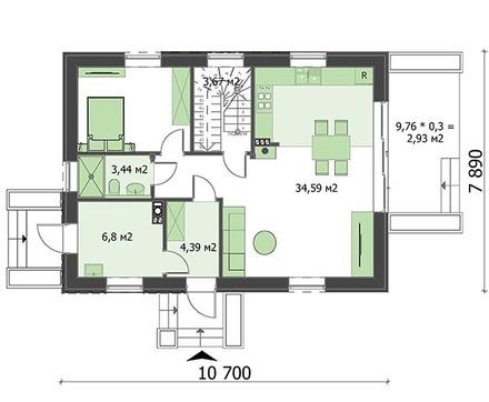 Проект дома 4m6177b план