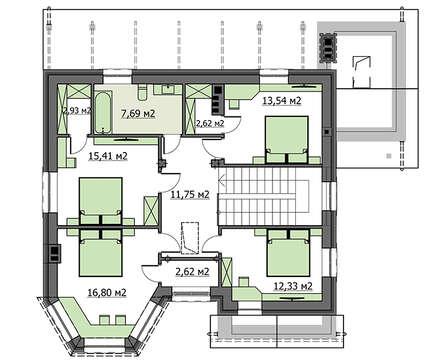 Проект дома 4m4702 план