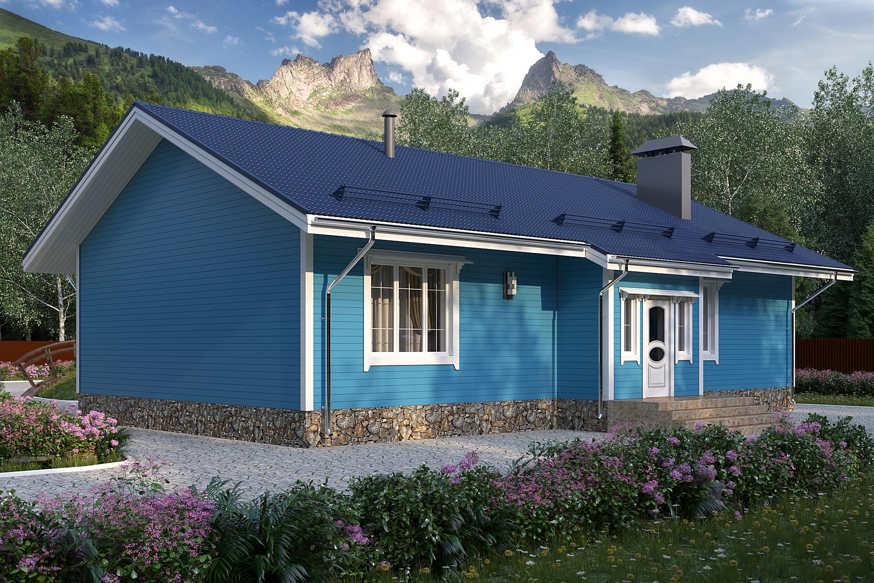 Проект каркасного дома 121 кв. м / Артикул А-130 фасад