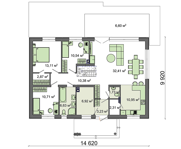 Проект дома 4m7133 план