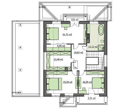 Проект дома 4m721 план