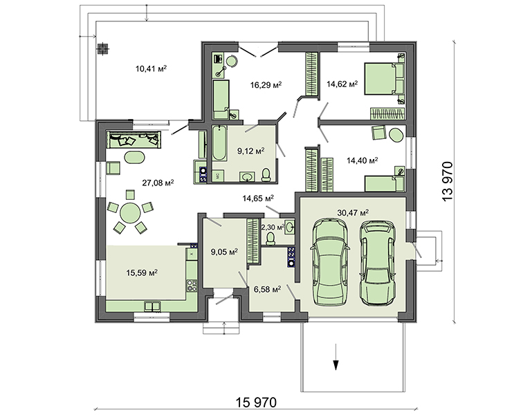 Проект дома 4m1453 план