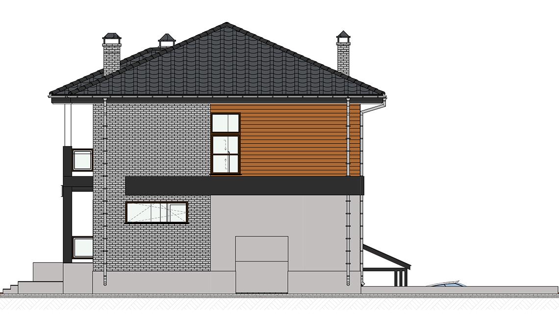 Проект дома 4m1451 фасад