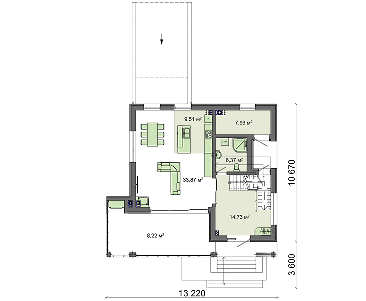 Проект дома 4m1451 план