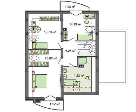 Проект дома 4m1452 план