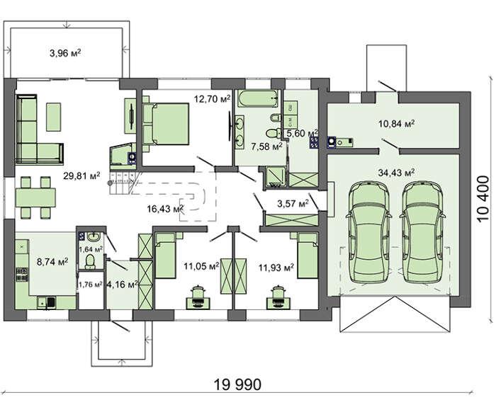 Проект дома 4m7150 план