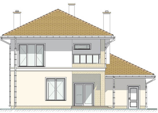 Проект дома 4m713 фасад
