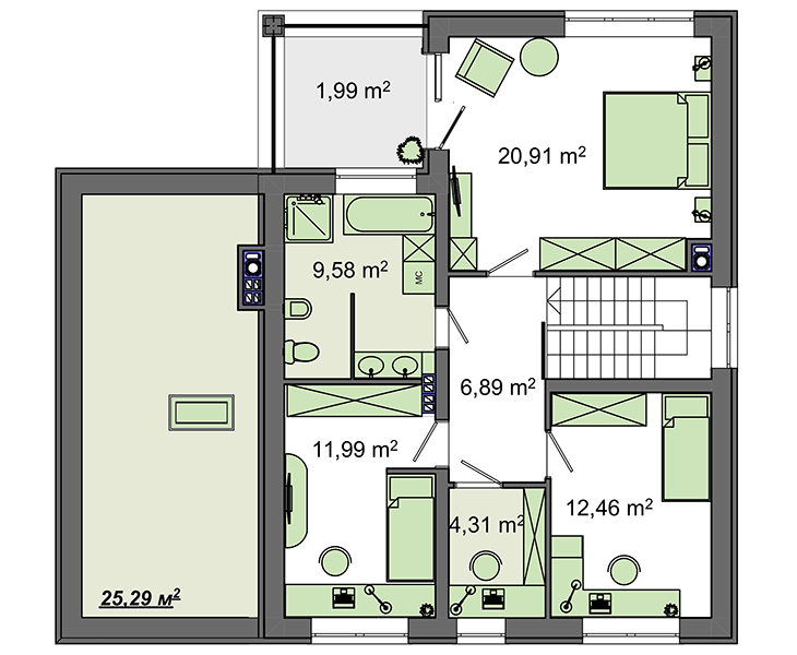 Проект дома 4m713 план