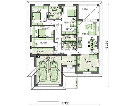 Проект дома 4m1455 план