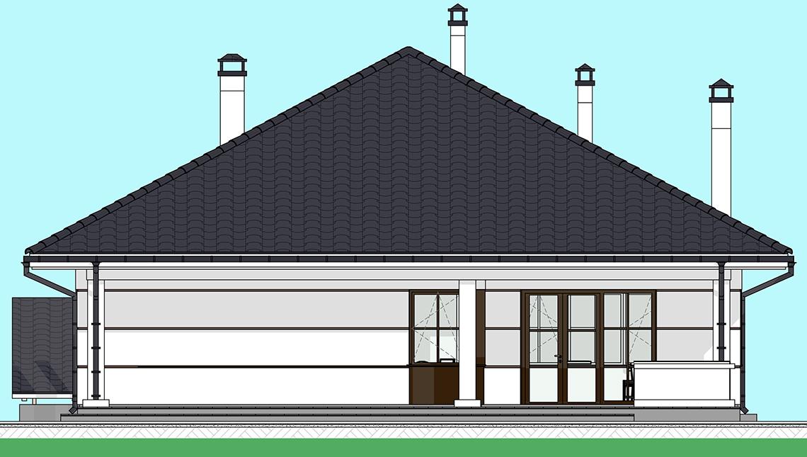 Проект дома 4m1458 фасад