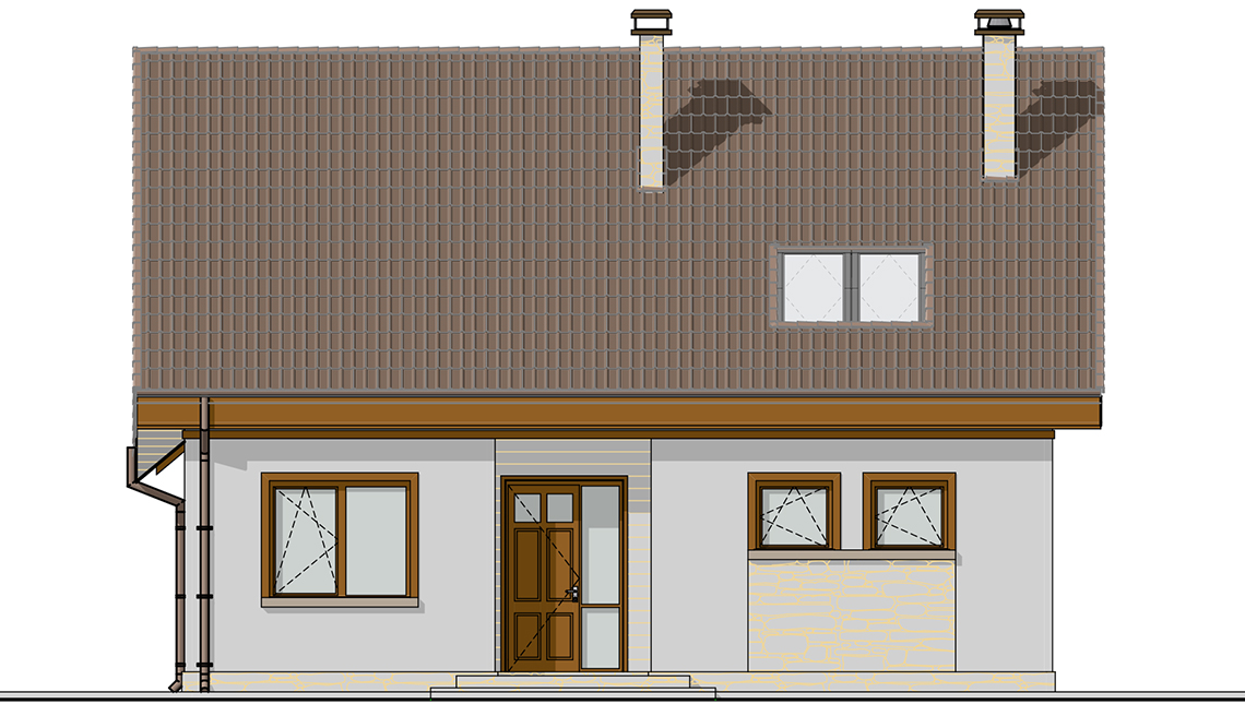 Проект дома 4m1457 фасад