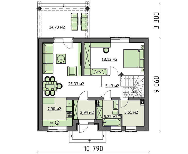 Проект дома 4m1457 план