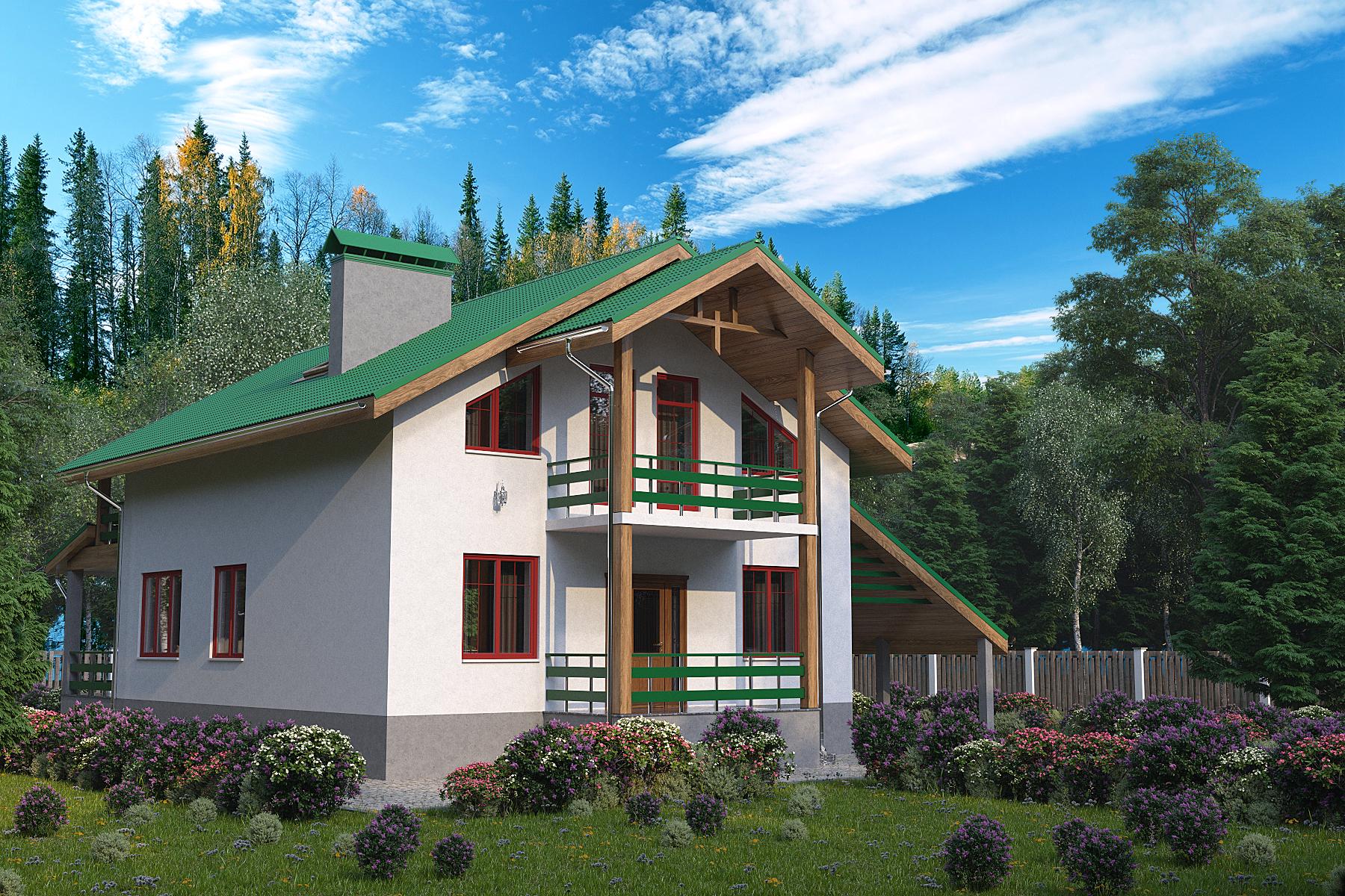 Готовый проект дома 147 кв.м // Артикул ВФ-133 фасад