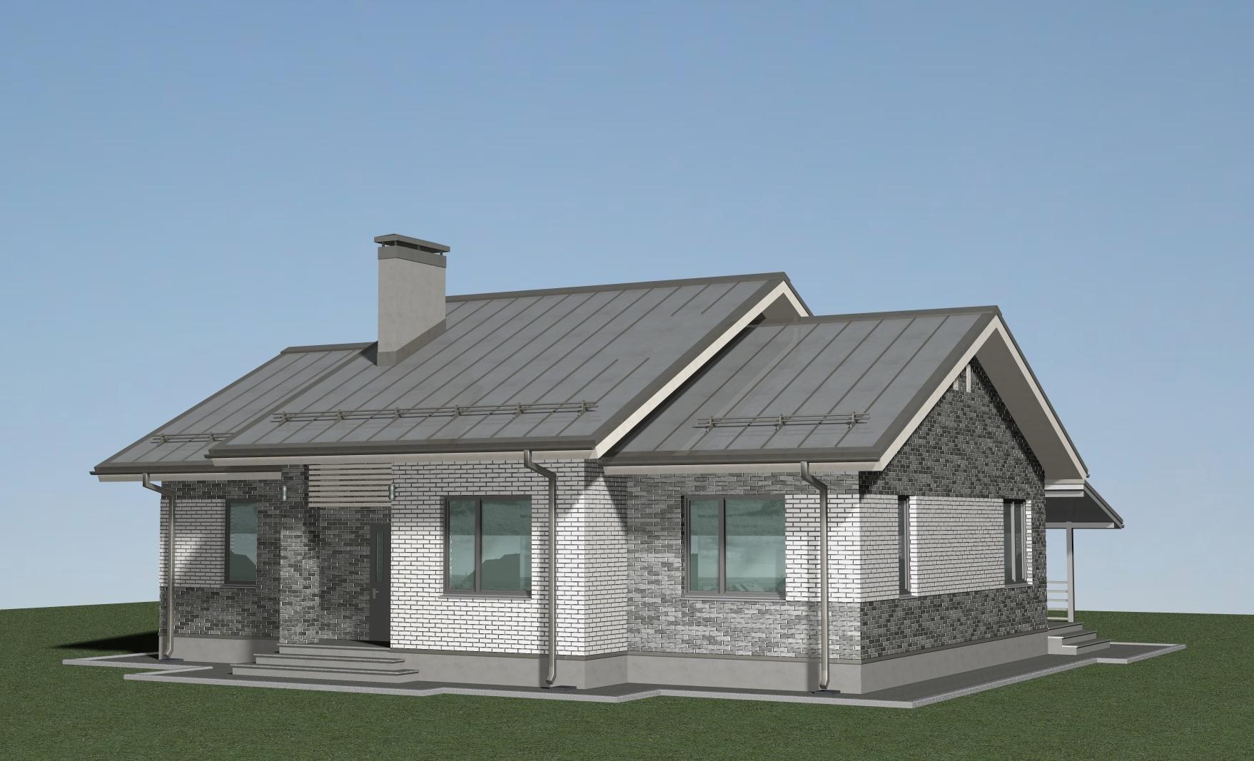 Проект финского дома А-07-20 фасад