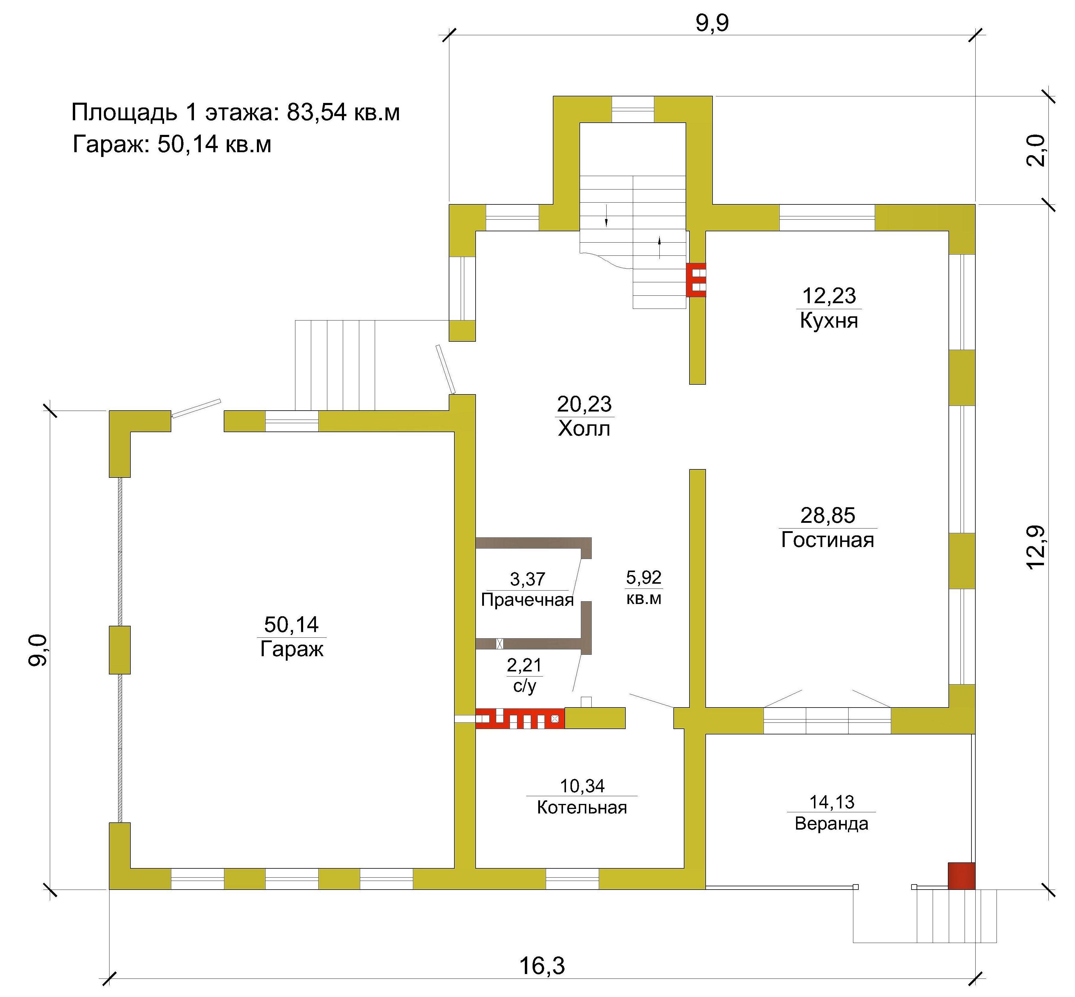 Готовый проект дома 180 кв.м // Артикул А-81 план
