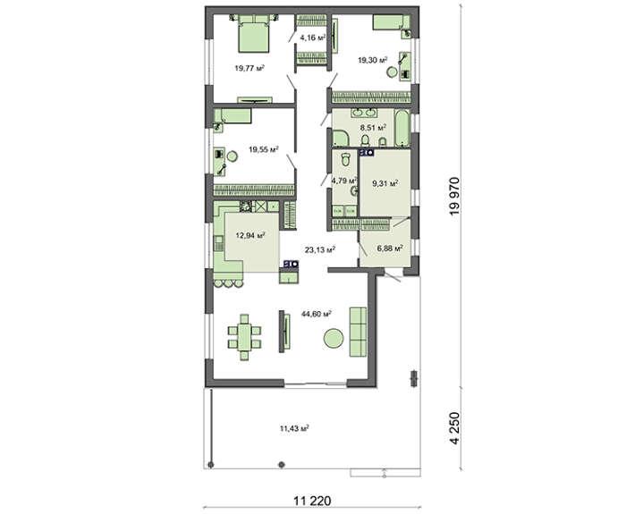 Проект дома 4m581 план