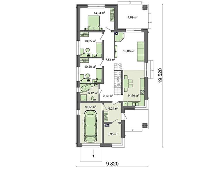 Проект дома 4m741 план