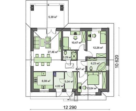 Проект дома 4m794 фасад
