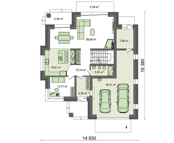 Проект дома 4m1462 план