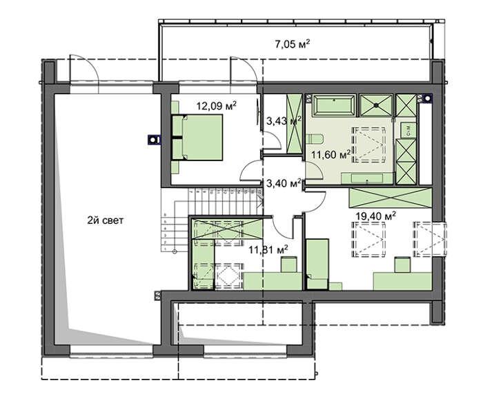 Проект дома 4m1461 план