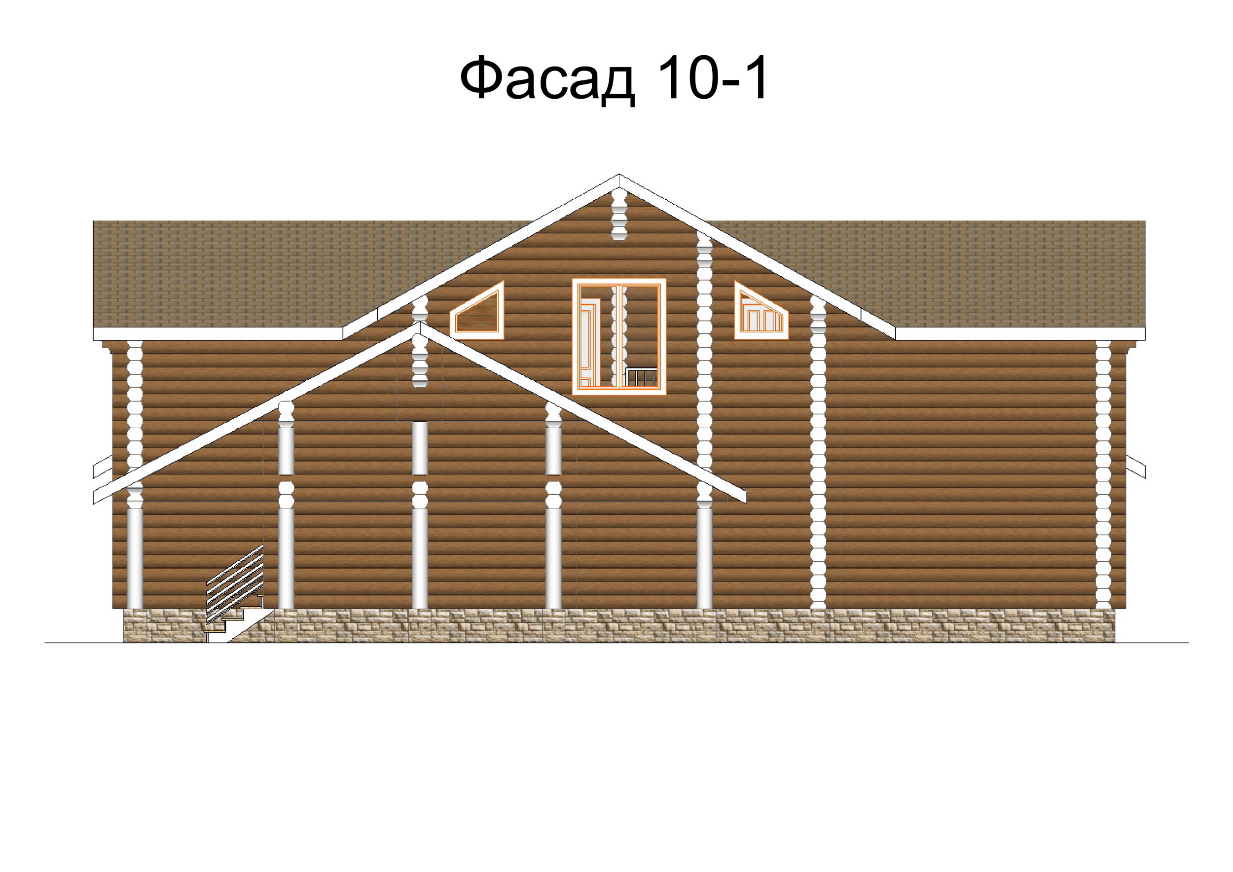 №2    S общая –   267.9 м2  фасад