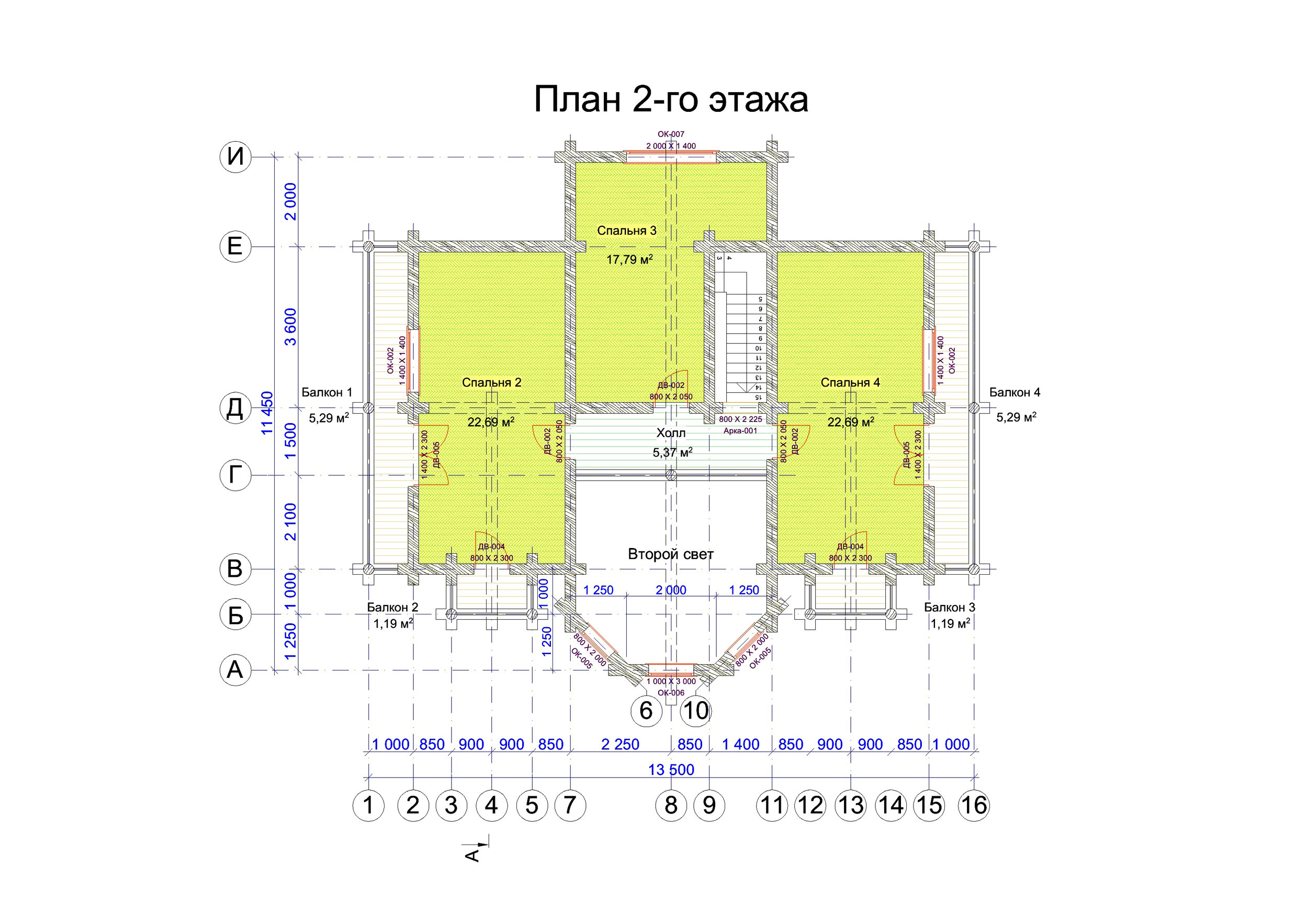 №3     S общая - 173м2 план