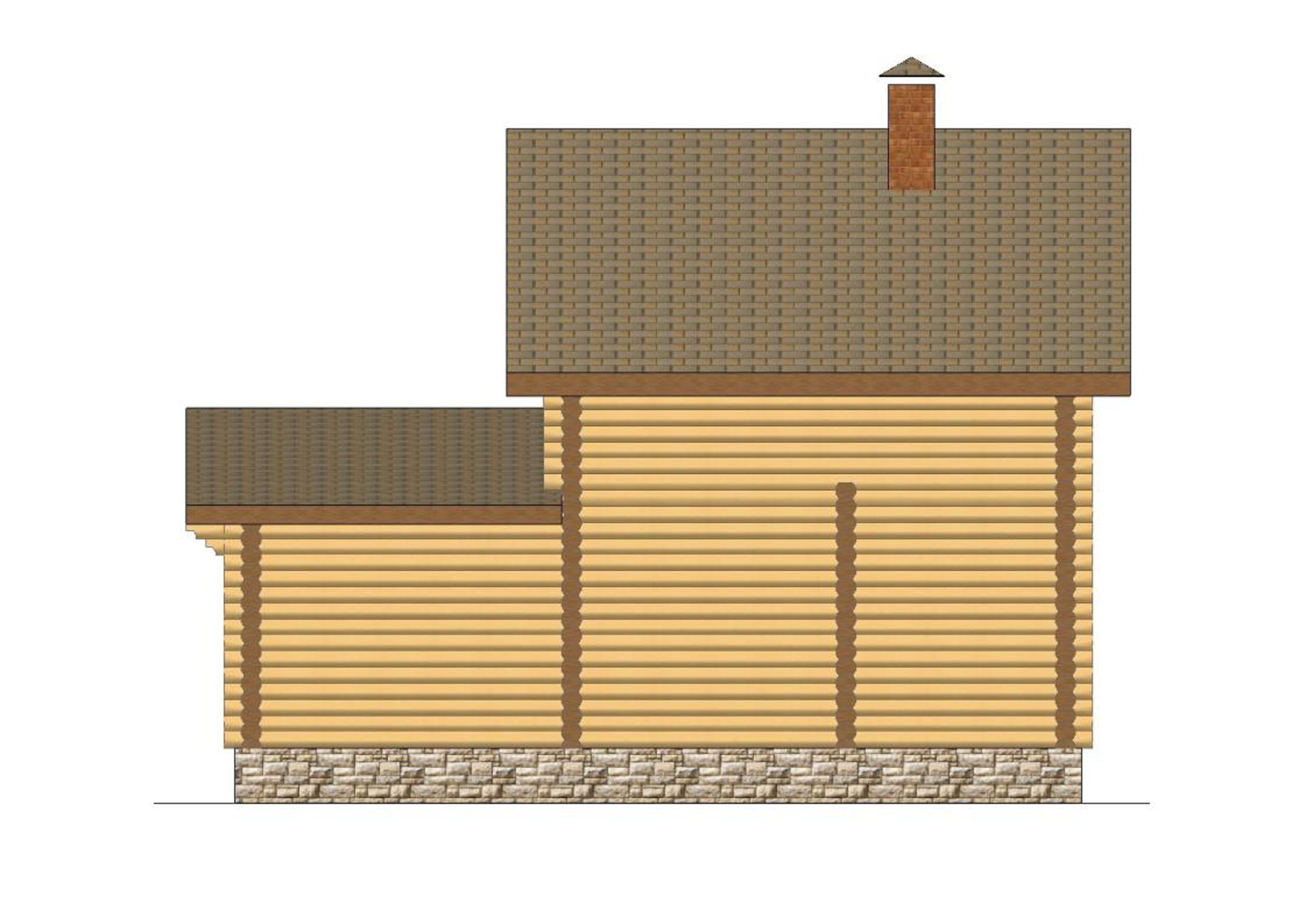 №4   S общая - 68,3 м2 фасад