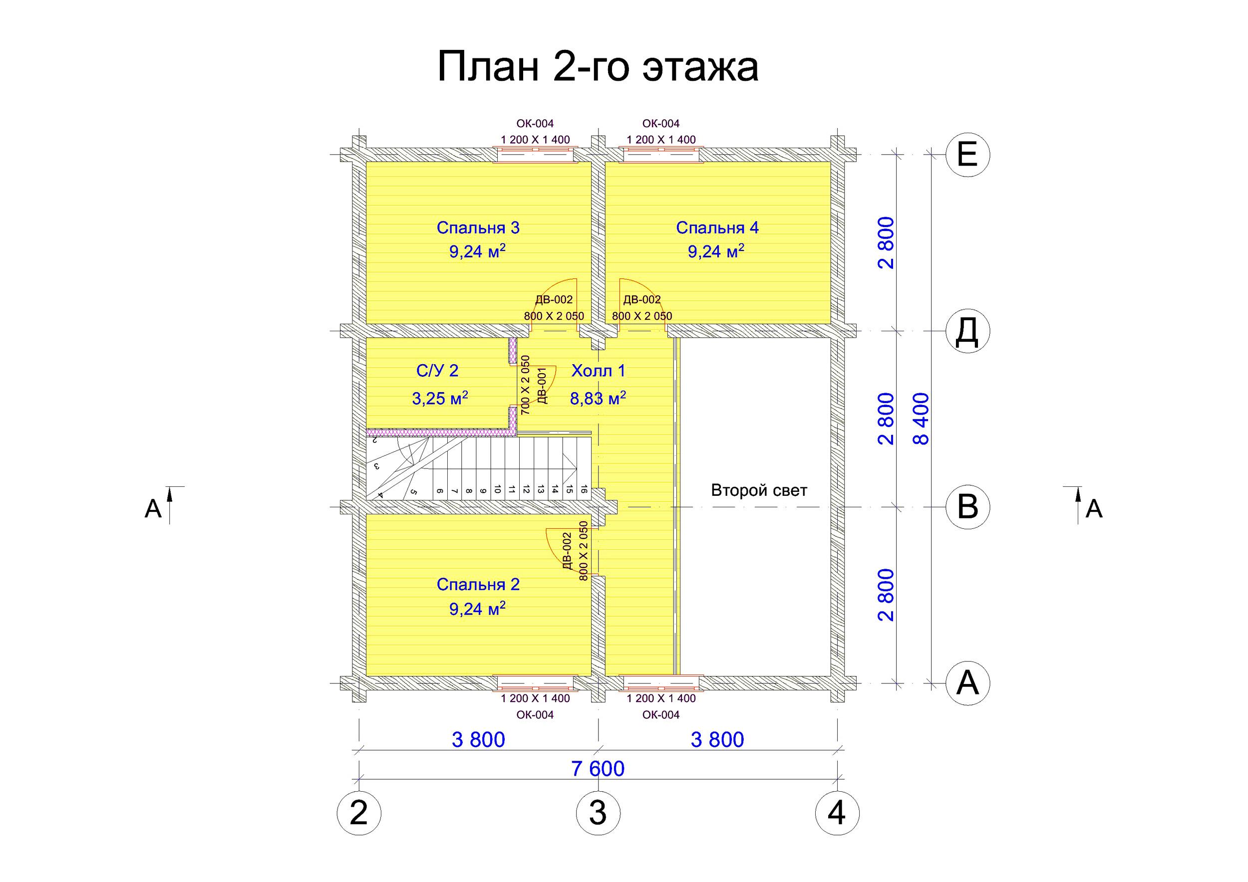№5   S общая - 123,1 м2 план