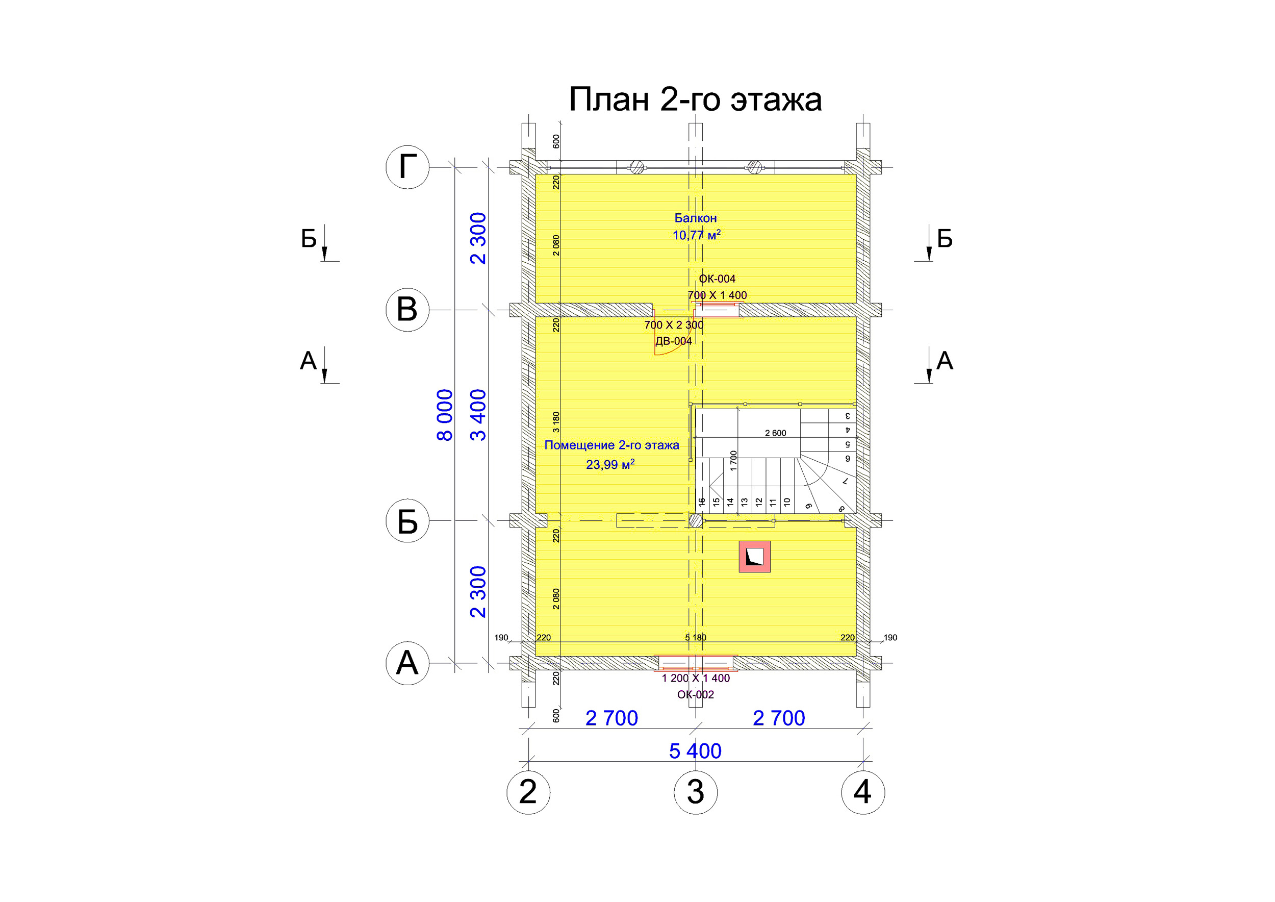 №6  S = 87.9 м2  план