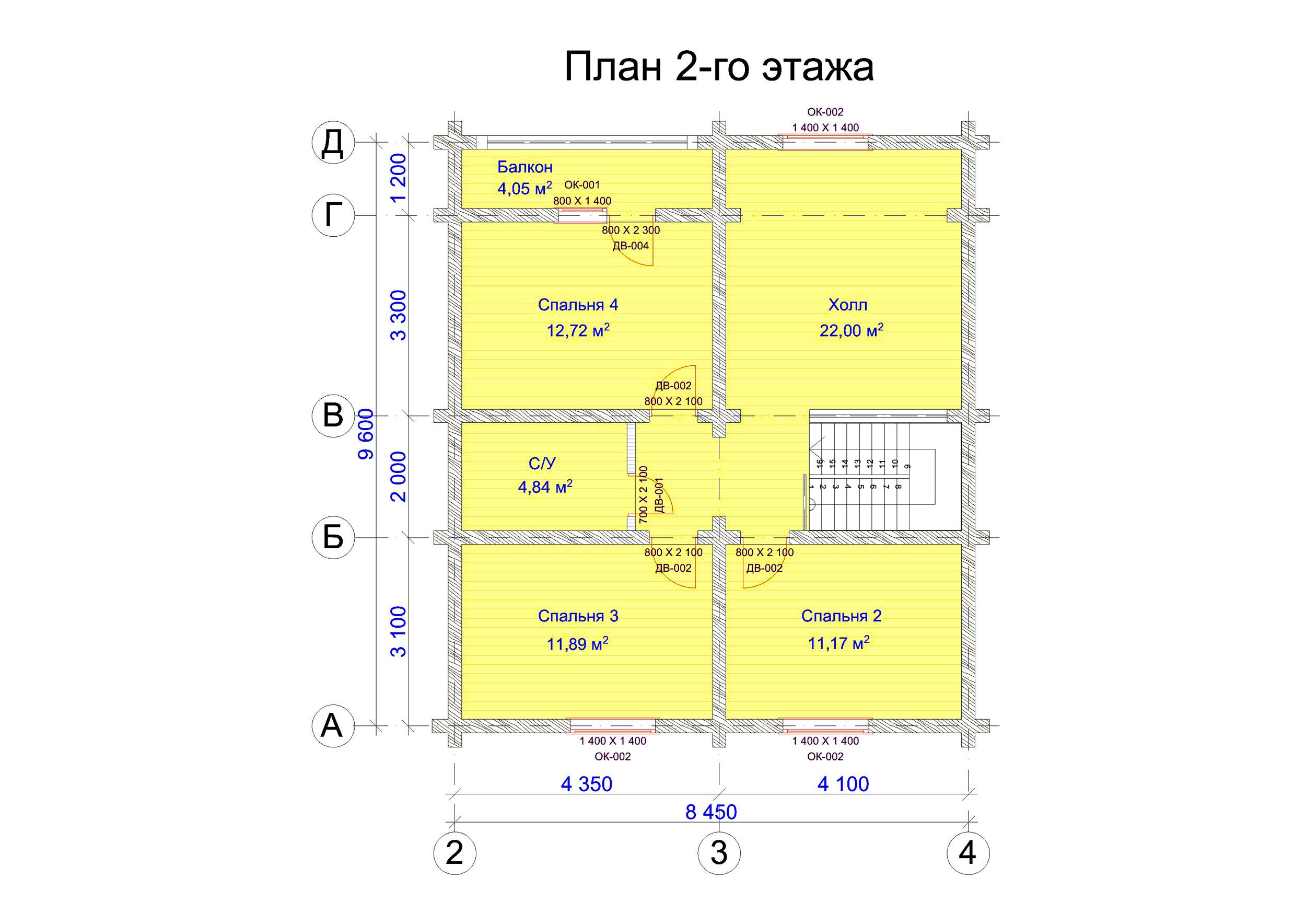 №7   S общая - 152,3 м2 план