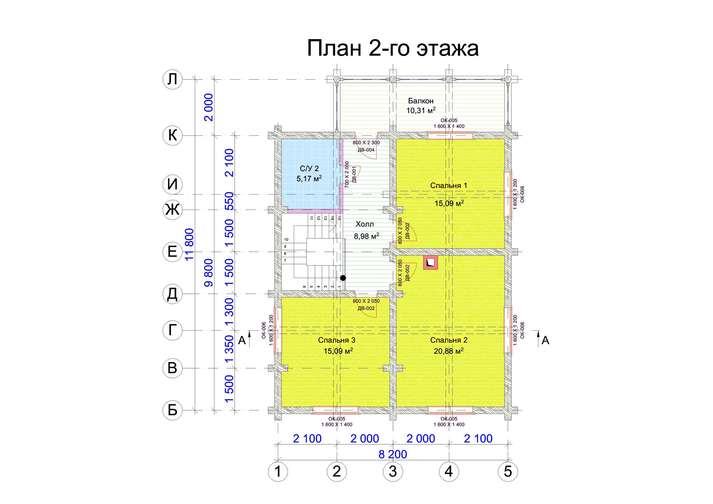 №9    S общая - 167 м2 план