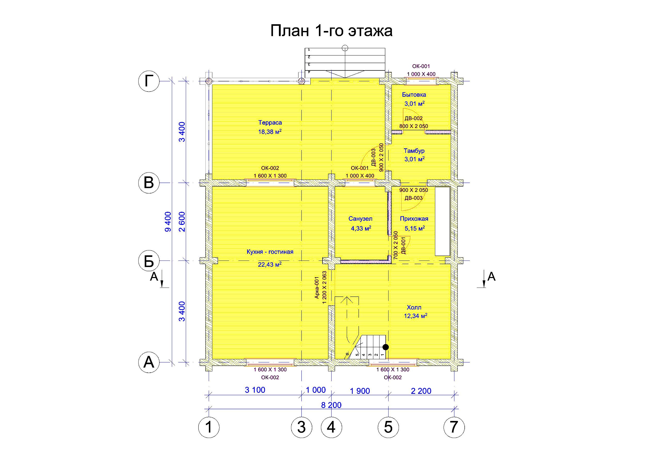 №11  S общая - 98,1 м2 план