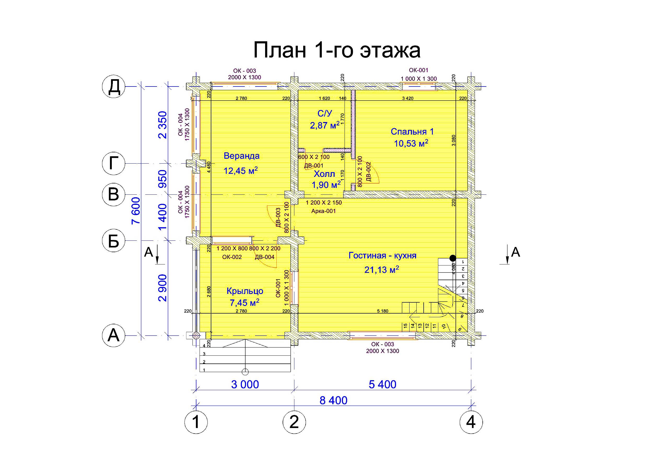 №15   S = 89.7 м2 план