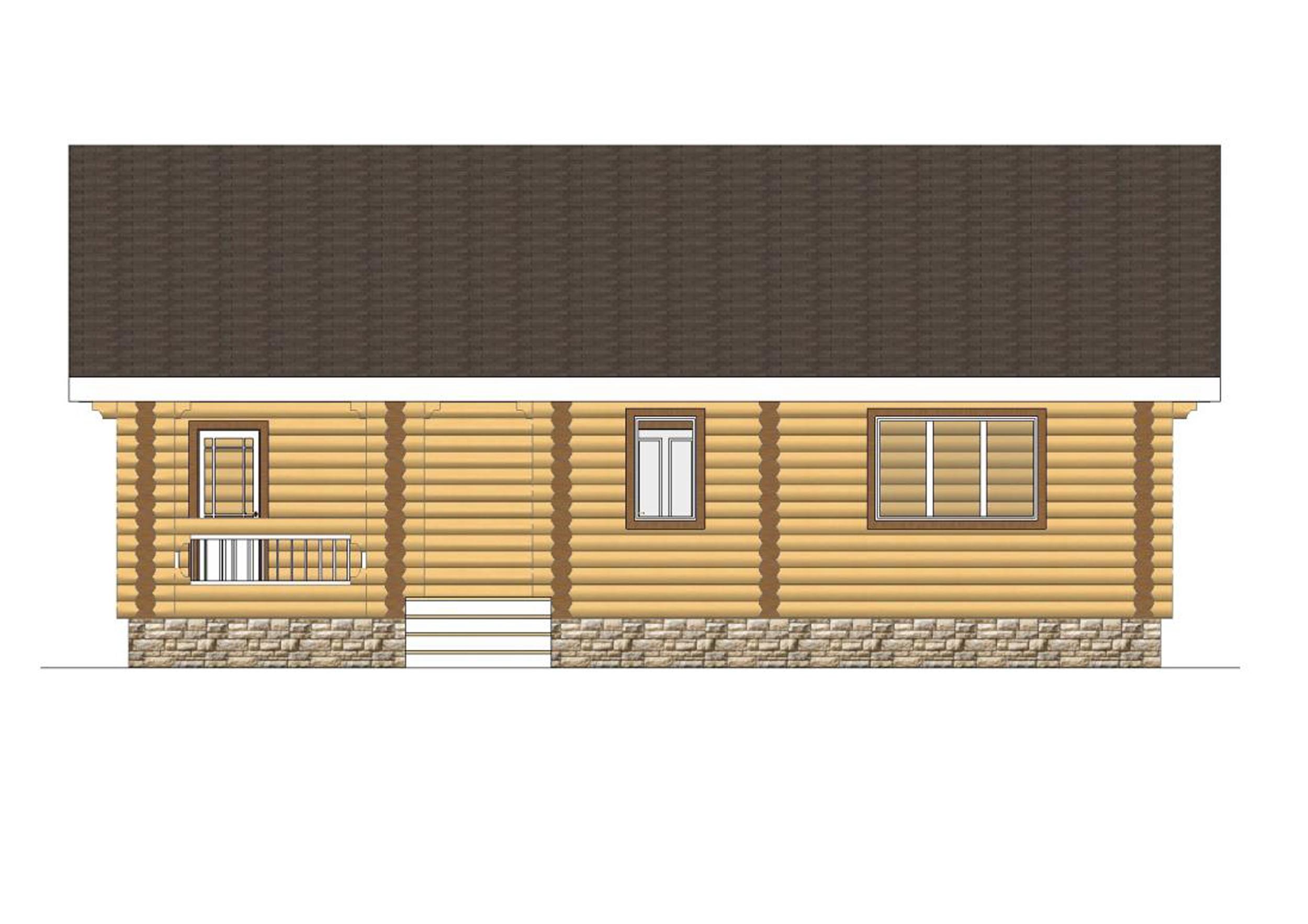 №17  S помещений - 128,2 м2 фасад