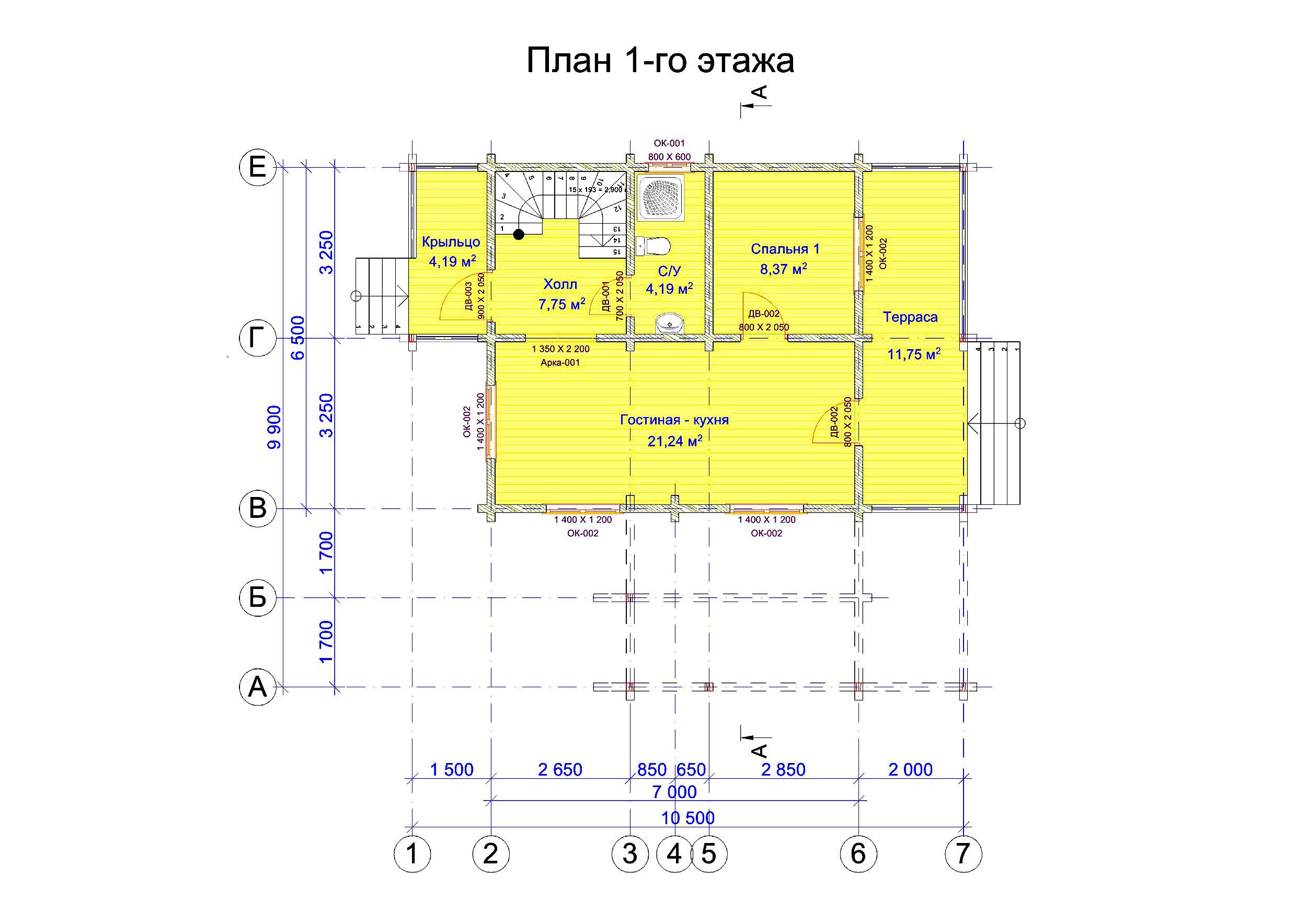 №18    S = 94.4 м2 план