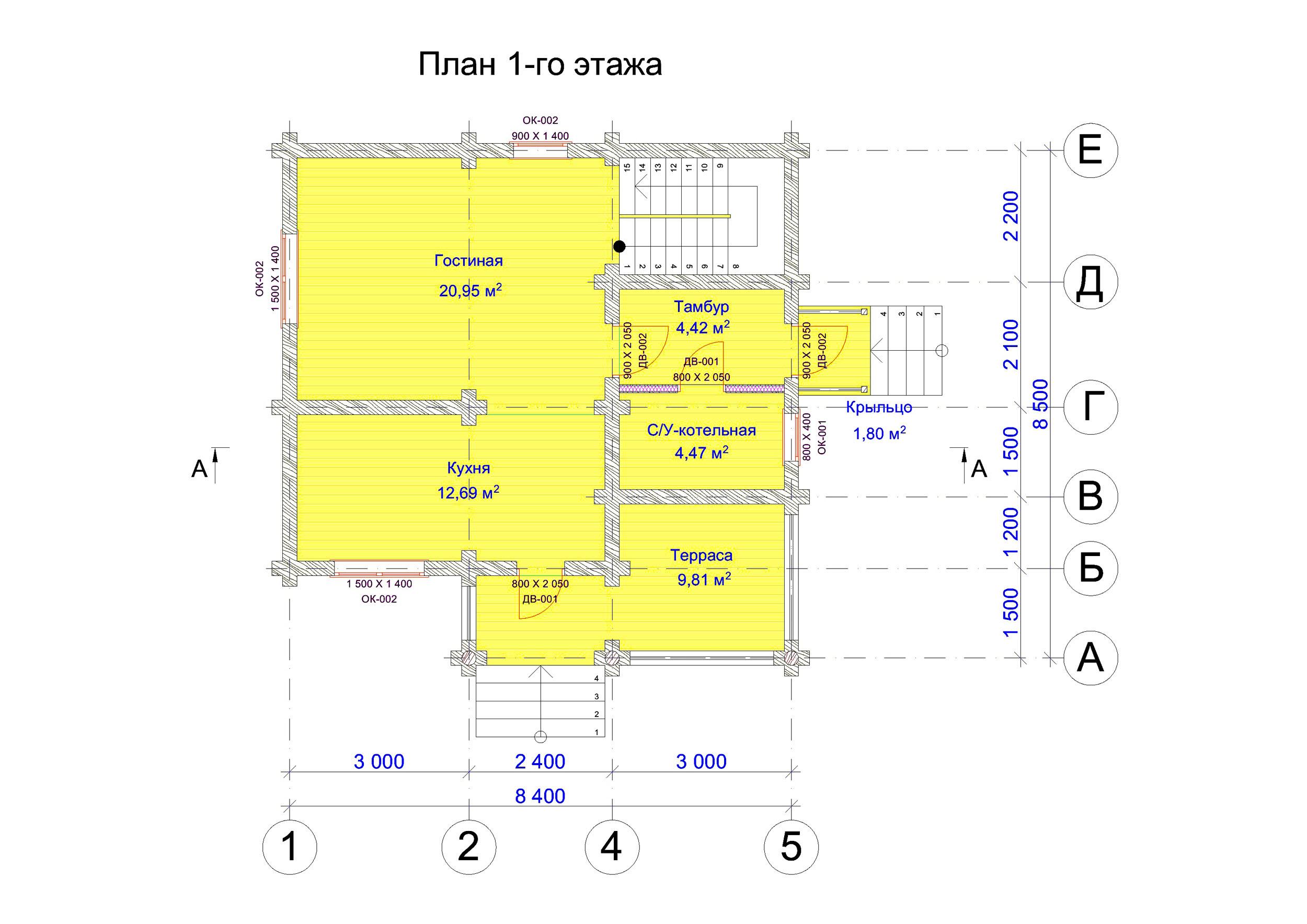 №20   S = 98.8 м2 план