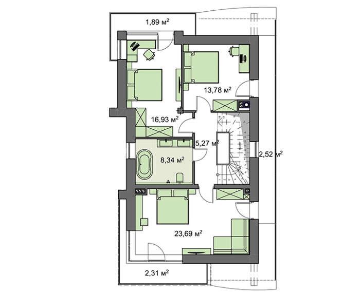 Проект дома 4m1466 план