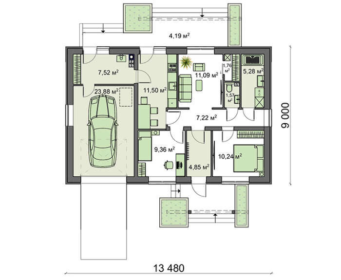 Проект дома 4m1467 план