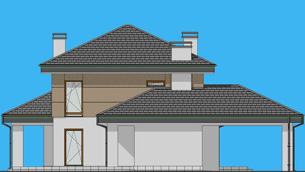 Проект дома 4m1465 фасад
