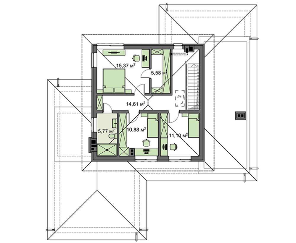 Проект дома 4m1465 план
