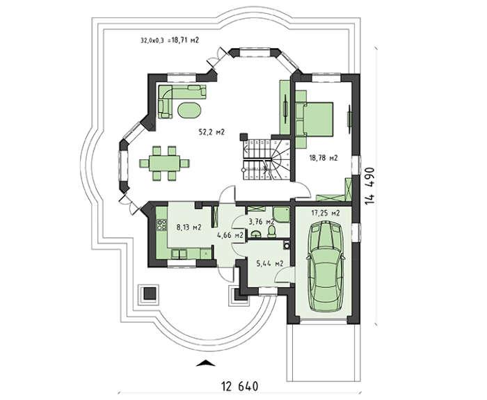 Проект дома 4m833 план