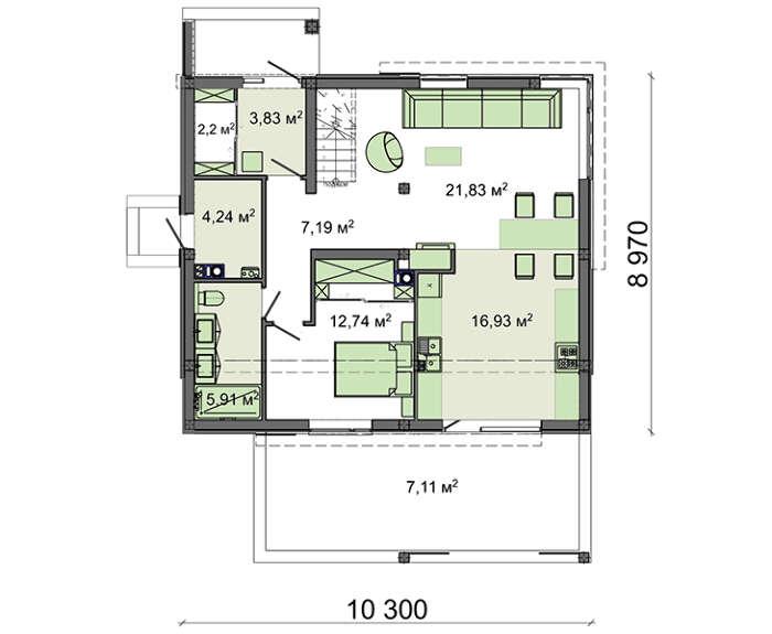 Проект дома 4m1471 план