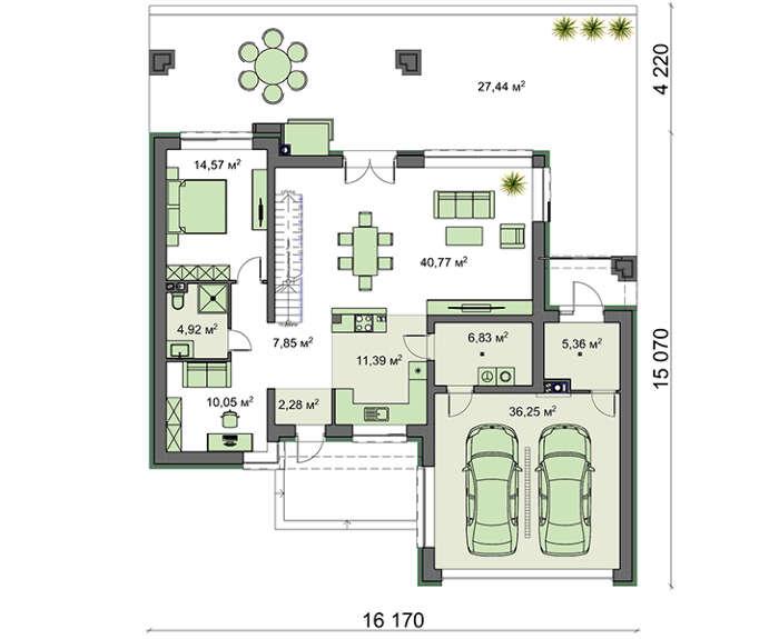 Проект дома 4m1468 план