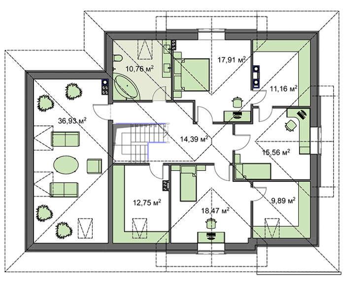 Проект дома 4m1459 план