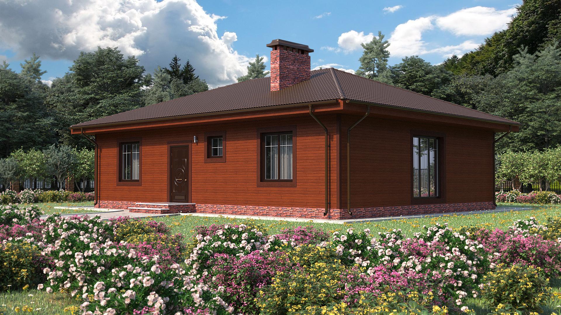 Готовый проект дома 103 кв.м // Артикул СЛ-112 фасад