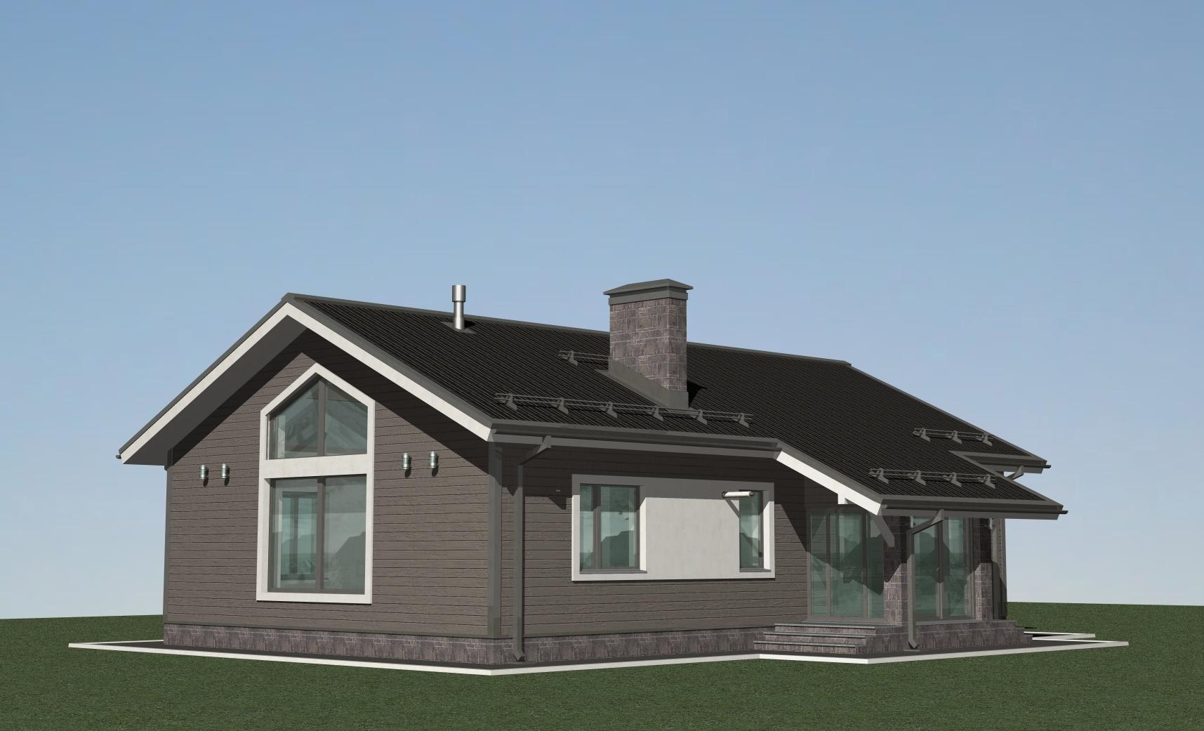Проект дома в стиле БАРН - А-07-23 фасад