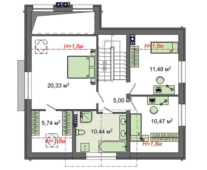 Проект дома 4m795 план