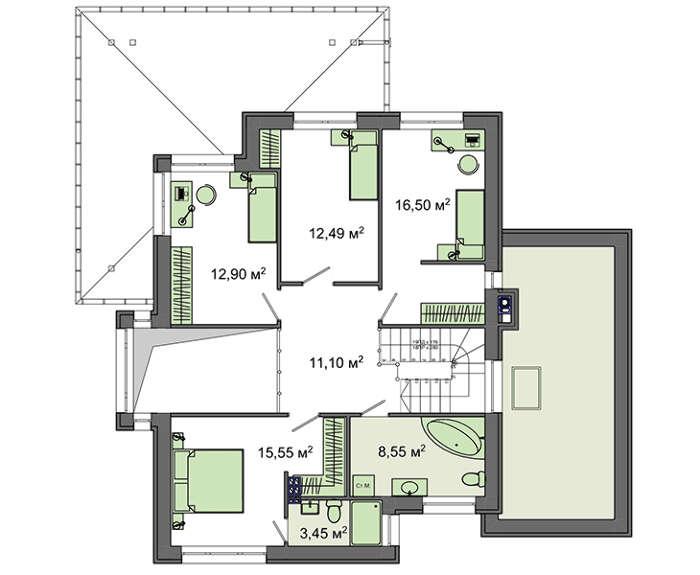Проект дома 4m787 план
