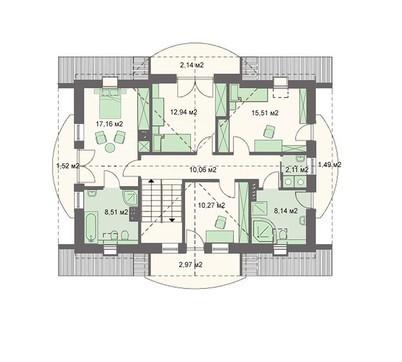 Проект дома 4m3197a план