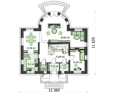 Проект дома 4m3438 план